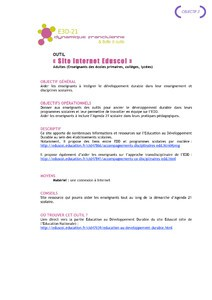 Site Internet Eduscol (Education Nationale) ou comment intég...